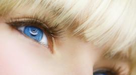 4K Big Blue Eyes Wallpaper HQ