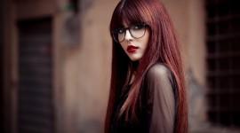4K Girl Glasses Photo