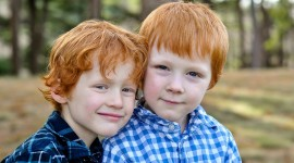 4K Red-Haired Baby Photo Free