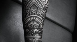 Black Work Tattoo Wallpaper For Android