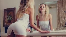 Blonde Mirror Wallpaper 1080p