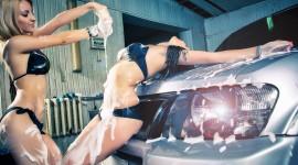 Car Wash Girl Desktop Wallpaper