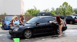 Car Wash Girl Desktop Wallpaper HD