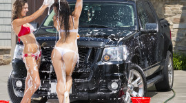 Car Wash Girl Photo