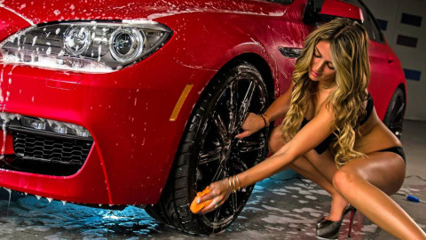 Car Wash Girl wallpapers high quality