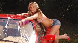 Car Wash Girl Wallpaper For PC