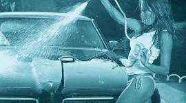 Car Wash Girl Wallpaper HQ