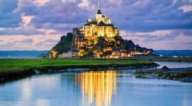 Castle Mont Saint Michel France Wallpaper
