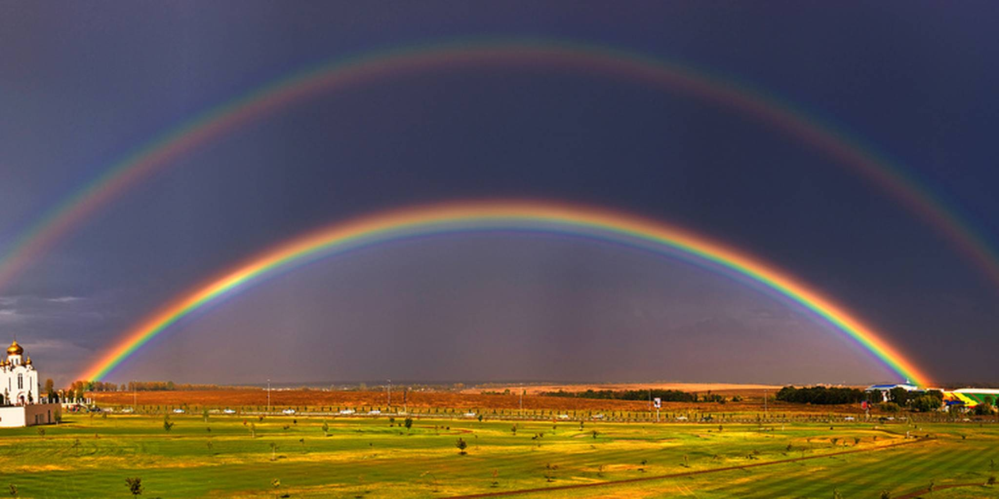 Real Double Rainbow in Staten Island South Beach - HD ...  |Double Rainbow Wallpaper