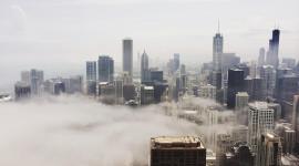 Fog In The City Desktop Wallpaper