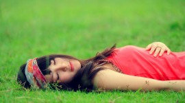 Lie On The Grass Wallpaper Download Free