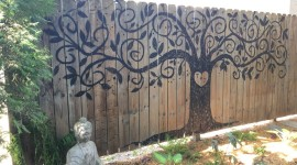 Painted Fences Wallpaper