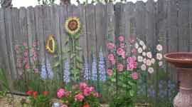 Painted Fences Wallpaper Full HD