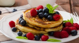 Pancakes With Fruits Best Wallpaper