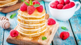Pancakes With Fruits High Quality Wallpaper