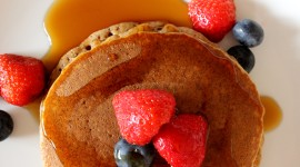 Pancakes With Fruits Wallpaper Download Free