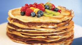 Pancakes With Fruits Wallpaper Free