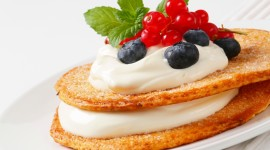 Pancakes With Fruits Wallpaper HQ