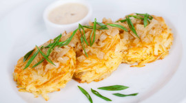 Potato Pancakes With Onions Wallpaper High Definition