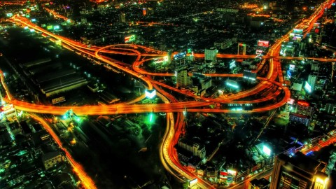 Road Junction Night wallpapers high quality