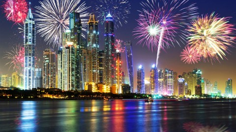 The Fireworks Of Skyscrapers wallpapers high quality
