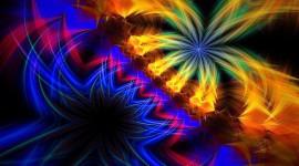 4K Fractal Multicolored Wallpaper 1080p