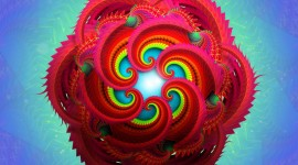 4K Fractal Multicolored Wallpaper