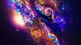 4K Fractal Multicolored Wallpaper For Mobile
