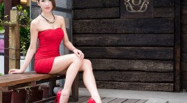 4K Red Dress Photo