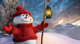 4K Winter Lantern Image