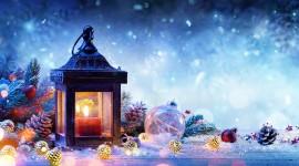 4K Winter Lantern Picture Download