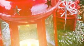 4K Winter Lantern Wallpaper For IPhone