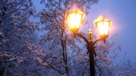 4K Winter Lantern Wallpaper For PC