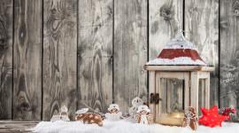 4K Winter Lantern Wallpaper Full HD