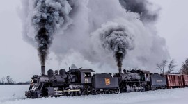 4K Winter Train Aircraft Picture
