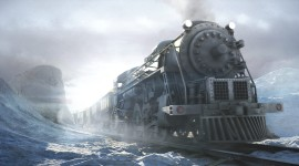 4K Winter Train Image