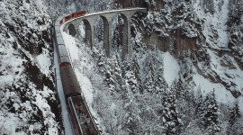 4K Winter Train Wallpaper For IPhone Free