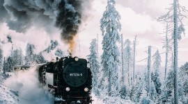 4K Winter Train Wallpaper For Mobile