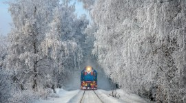 4K Winter Train Wallpaper Gallery