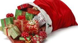 Bag With Christmas Gifts Aircraft Picture