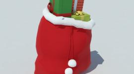 Bag With Christmas Gifts For Desktop