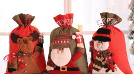 Bag With Christmas Gifts Photo