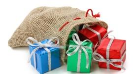Bag With Christmas Gifts Photo Free