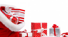 Bag With Christmas Gifts Wallpaper Full HD