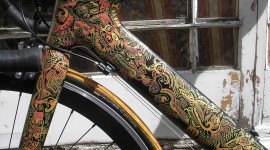 Bike Painting Wallpaper For IPhone Free