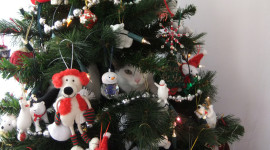 Cat Christmas Tree Desktop Wallpaper