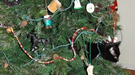 Cat Christmas Tree For Mobile#1