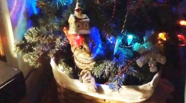 Cat Christmas Tree Wallpaper Full HD