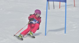 Children Skiing Wallpaper Free