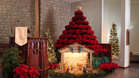 Christmas Church Decor wallpapers high quality
